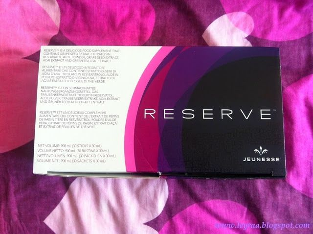 Leyraa Blog: Jeunesse Suplement diety RESERVE