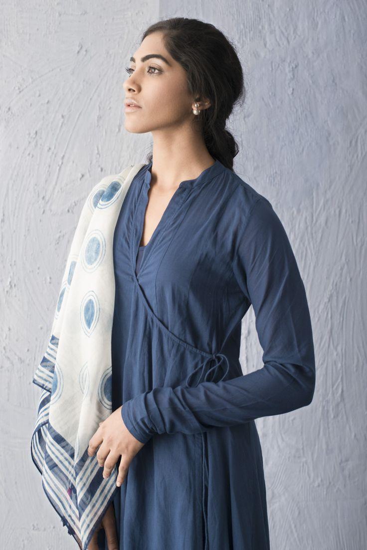 BREEZY INDIGO A collection of easy contemporary silhouettes with handblock prints in natural indigo dye.
