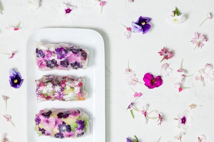 Kesärulla | K-ruoka  #koristelu #kesä #syötävätkukat