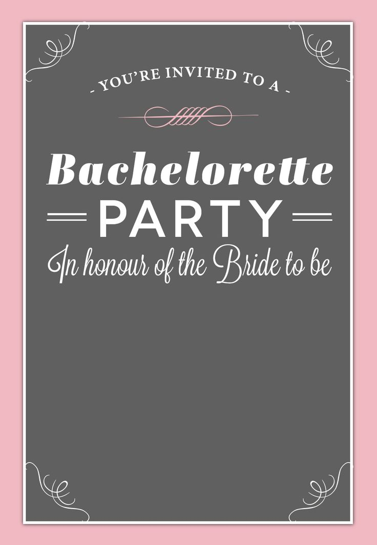 17 best Free Bachelorette Party Invites images on Pinterest - bachelorette invitation template