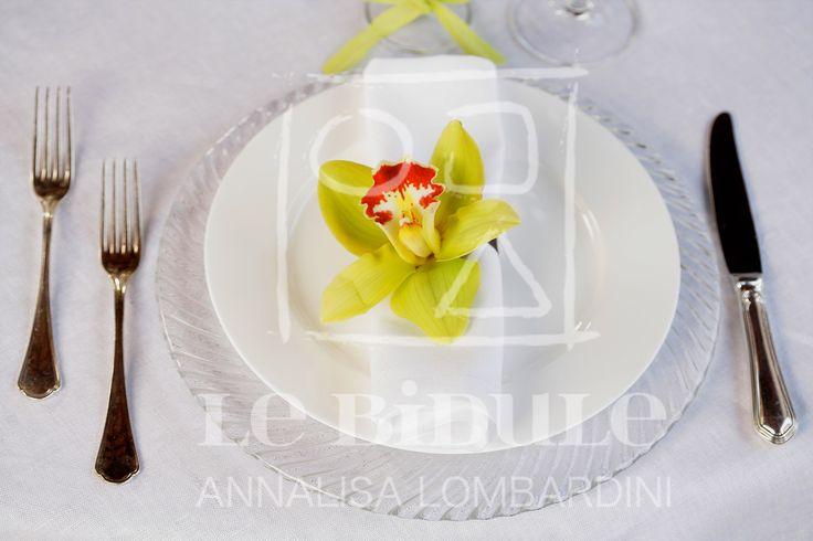 Allestimento tavoli/Table Setup by @nanni31 @LeBidule Dettaglio: Centrotavola Orchidea - Detail: Orchid Centerpiece