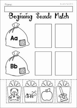Christmas Preschool No Prep Worksheets and Activities. Beginning sounds cut and paste.