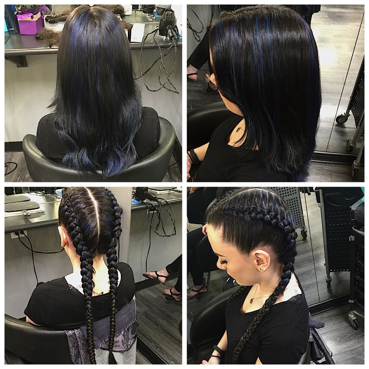 Black Hair With Red Highlights Pics