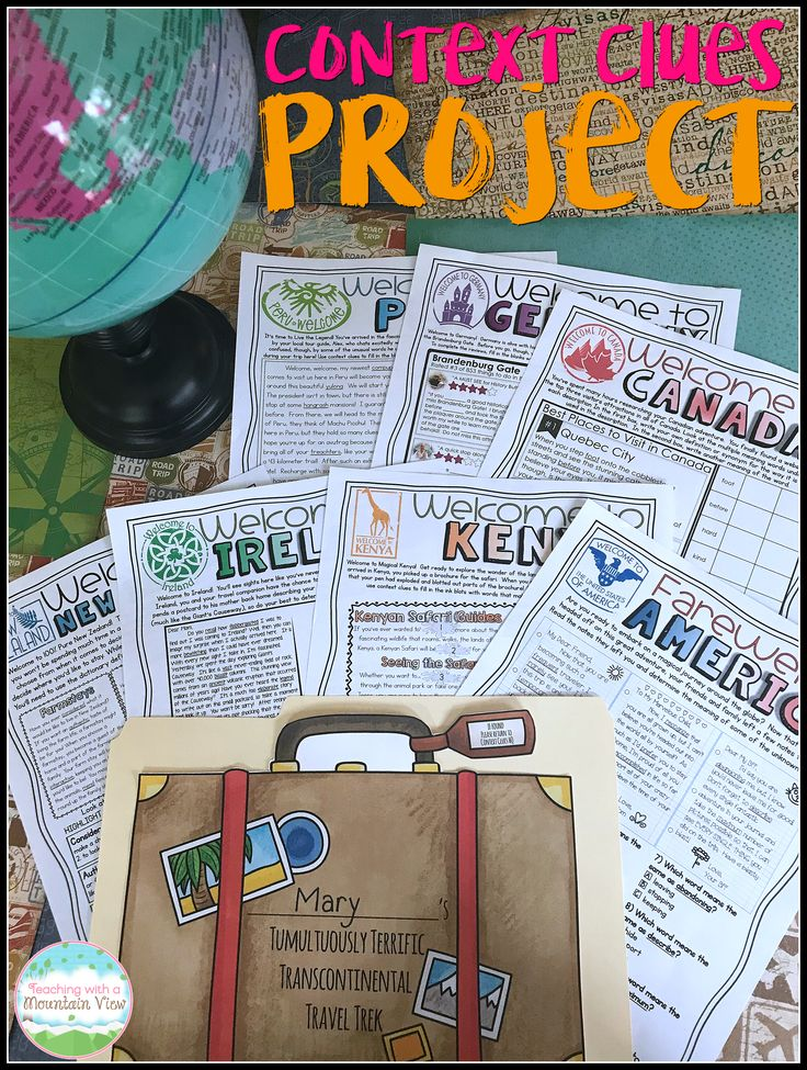 I LOVE this context clues project for engaging every learner!  Seven tasks take students around the world to practice their incredibly important context clues skills!