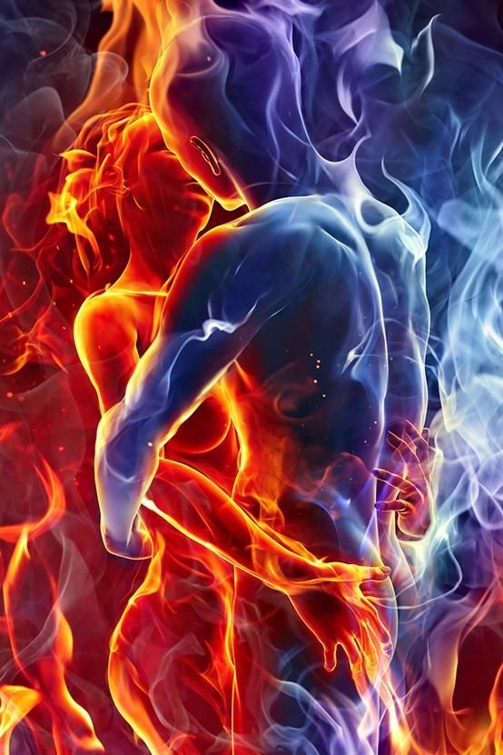 - Colors  - Inspiration  - Love - Passion  -  Twin Flame Kiss
