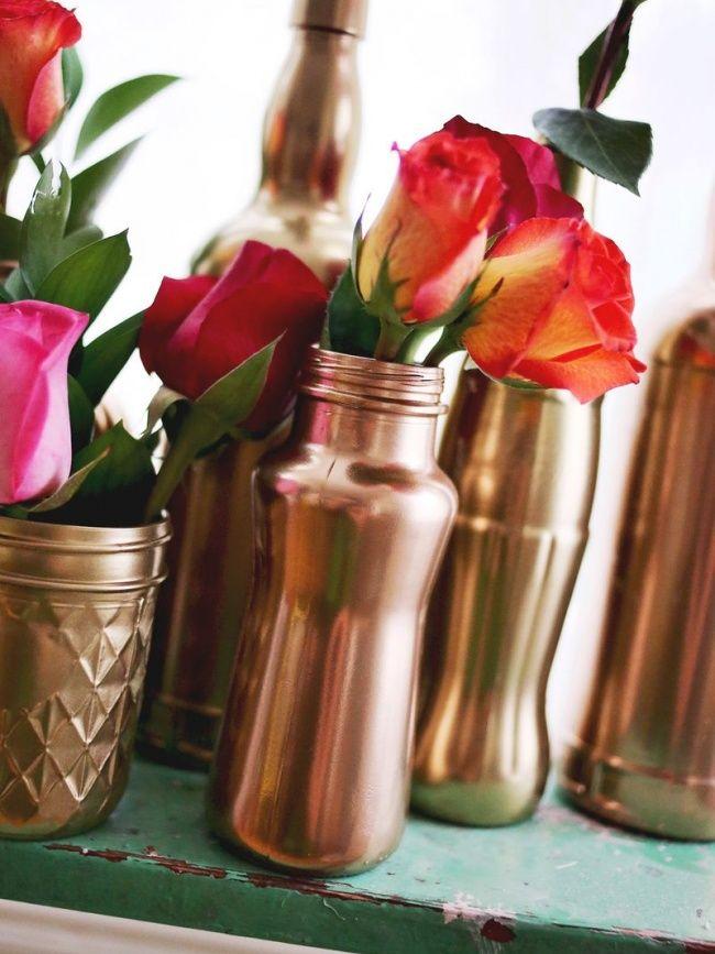Créer : des petits vases cuivrés