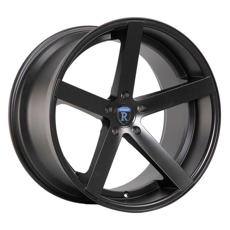 "20"" Rohana RC22 Black Concave Wheels Fits 2009-2012 Honda Accord"