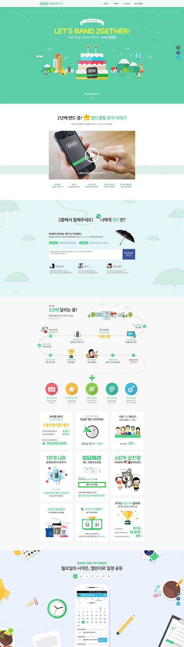 BAND App 2th Anniversary - Promotion by KwangYoung Han, via Behance