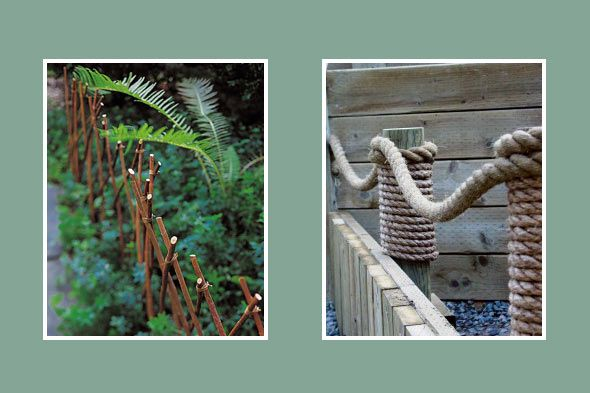 Wooden Pier Amp Rope For A Nautical Look Bamboo Border