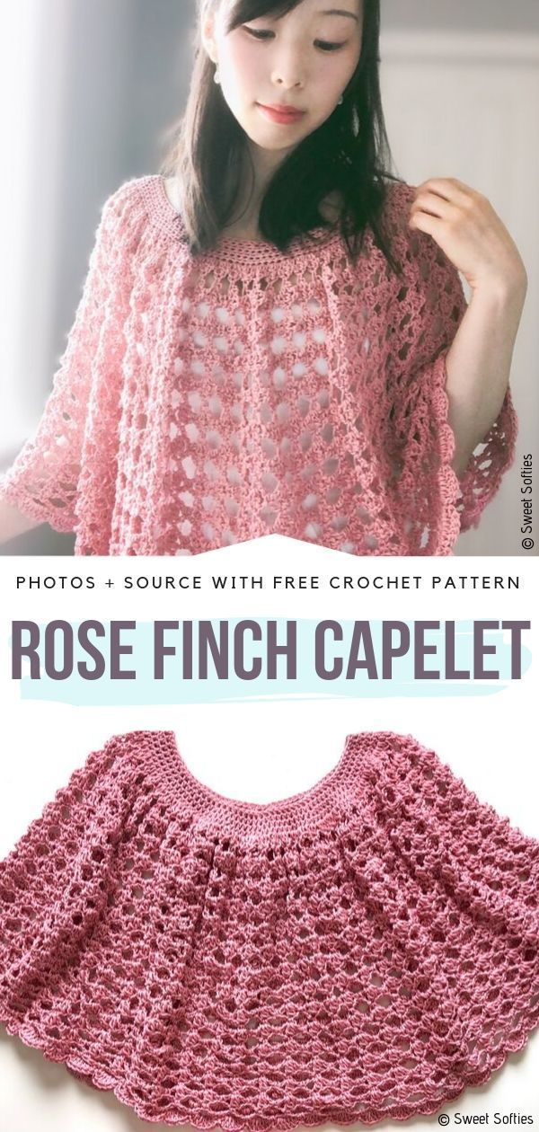 Subtle Pink Poncho Ideas Free Crochet Patterns