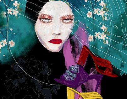 """Check out new work on my @Behance portfolio: """"GucciWoman"""" http://be.net/gallery/47673765/GucciWoman"""