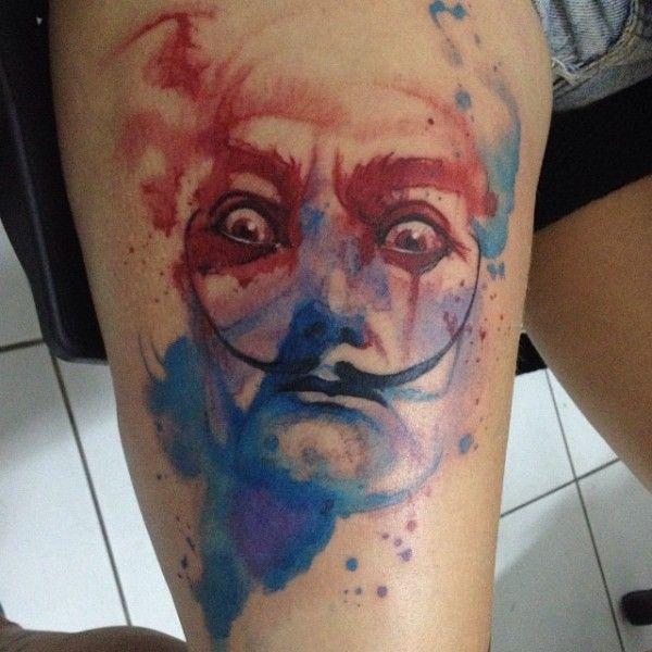 A tatuagem em estilo aquarela de Victor Octaviano | Tinta na Pele