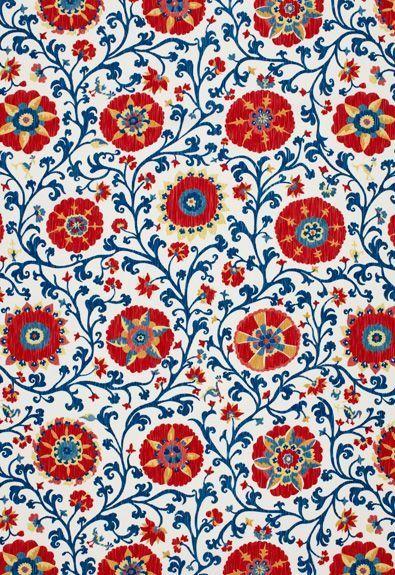 Fergana Embroidery Print Schumacher Fabric