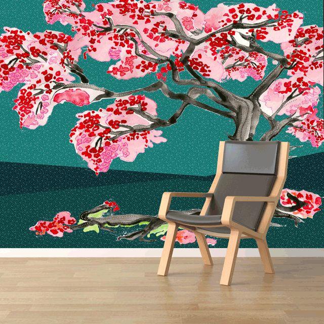 Creative wallpaper, Hand painted Wallpaper, beautiful walls.