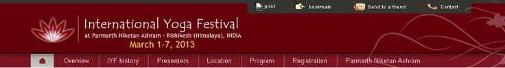 Welcome to International Yoga Festival, Parmarth Niketan Ashram - India