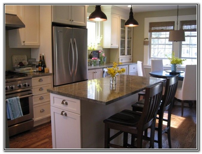 Small kitchen island with seating for 2 kitchen ideas - Kitchen island in small kitchen designs ...