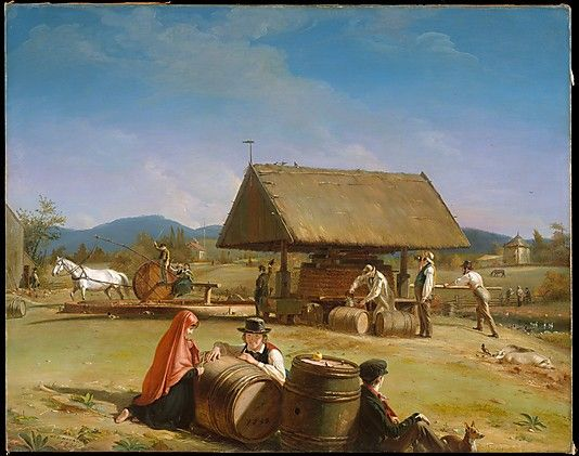 UNITED STATES   William Sidney Mount (American, 1807–1868). Cider Making The Metropolitan Museum of Art, New York. Purchase, Bequest of Charles Allen Munn, by exchange, 1966 (66.126) #WorldCup