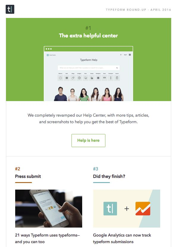 Typeform onboarding email