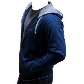 UC Blue Cotton Hoodie H-004