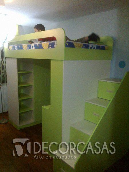 cama de nios con escalera de cajones cama de una plaza y media
