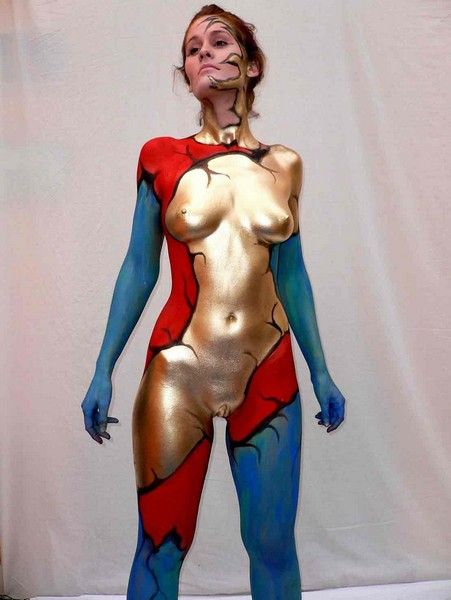 nude body paint zebra gallery