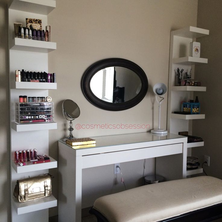 Makeup Storage and Organization: Ikea Lack Shelf Unit & Malm dressing table | CosmeticsObsession