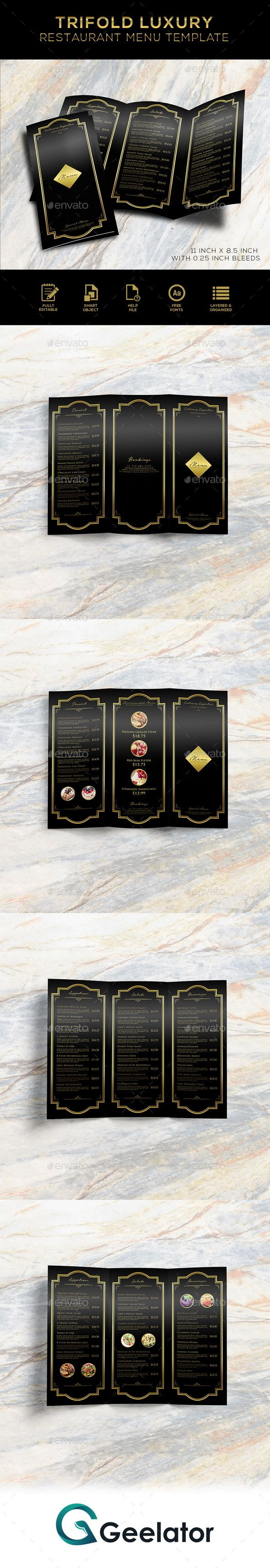 Tri-Fold Luxury Restaurant Menu Template - #bar #black #cafe #cafemenu #cafe #trifoldmenu #coffeshop #creative #deliciousmenu #elegant #fastfood #fastfoodmenu #food #foodmenu #luxury #luxurydesign #luxurymenu #menu #menudesign #menutemplates #printtemplate #promotion #restaurant #restaurantmenu #restauranttrifoldmenu #streetfood #streetfoodmenu #trifold #trifoldmenu #streetmenu