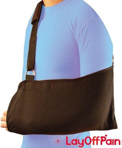 DJ Orthopedics - 1394A - Bell-Horn Arm Sling  Universal Black w/Padded Shoulder Strap