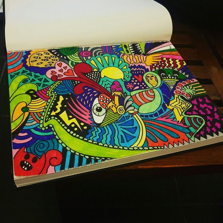 Tekening 1.0 #psychedelic #psychedelicart #tekening