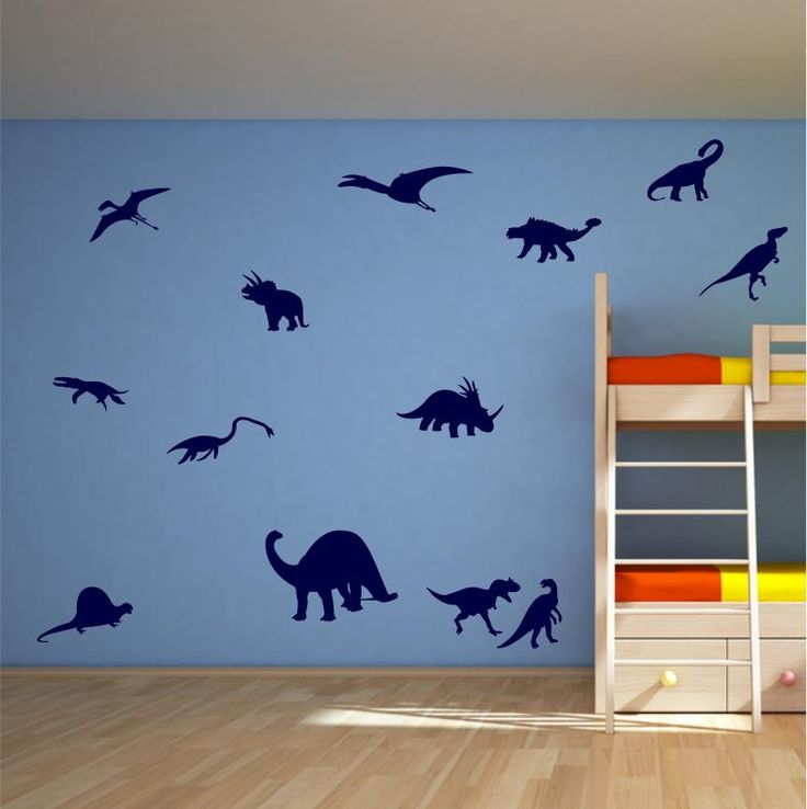 13 DINOSAUR WALL STICKERS BEDROOM VINYL WALL DECAL #1AT | eBay £10.99