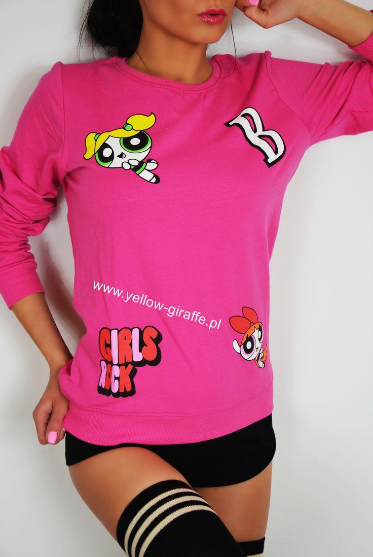 💜 Wyjątkowa i niepowtarzalna bluza z fantazyjnym, komiksowym nadrukiem to #musthave tego sezonu!  Teraz tylko 45zł 👏 Dostępna w naszym sklepie online  Www.yellow-giraffe.pl  #yellowgiraffepl #Pink #bluza #atomic #atomowki #moschino #sportygirl #inspiration #instafashion #outfit #promocja #clothes #girl #luxurylife