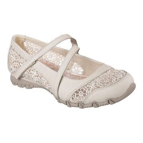 Women's Skechers Relaxed Fit Bikers Clocked Mary Jane Natural