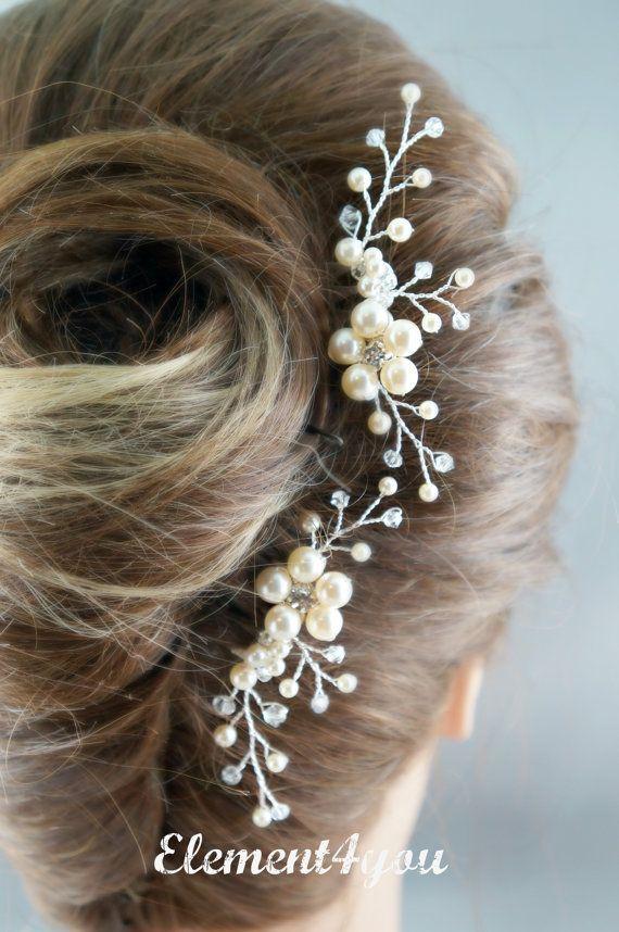 Nupcial peine peine del pelo de la boda juego de 2 por Element4you