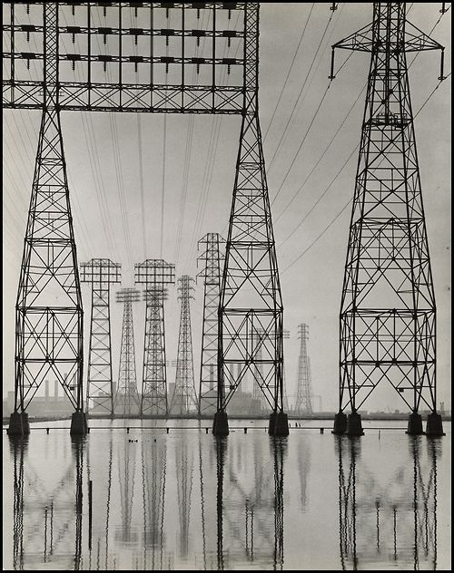 Electrical Transmission Towers, about 1935, Will Connell. Gelatin silver print. Stephen White, Collection II, © Will Connell.