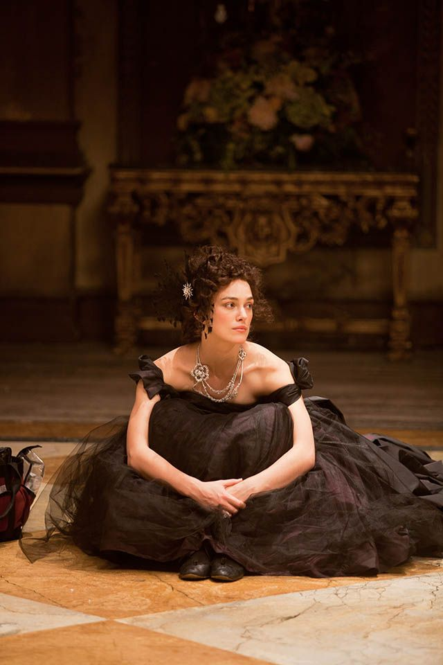 Keira in Anna Karenina. Cara Delevingne is in it as well, I wanna see it soooo bad!!!