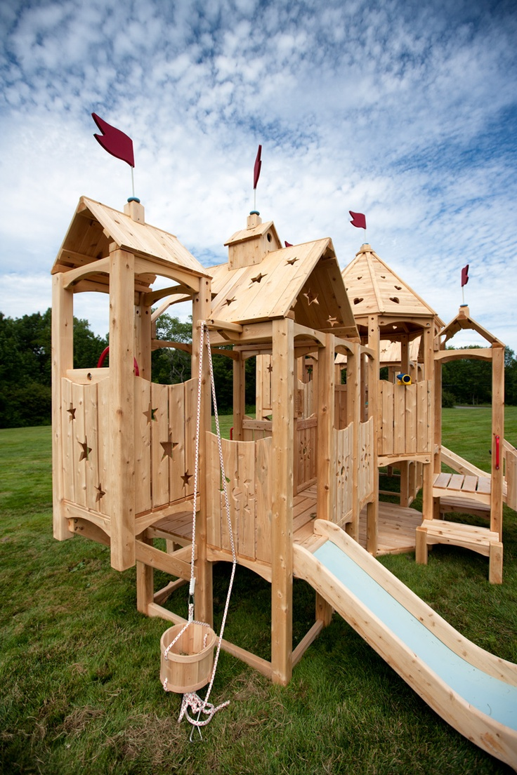 Free castle swing set plans woodworking projects plans for Wooden swing set plans