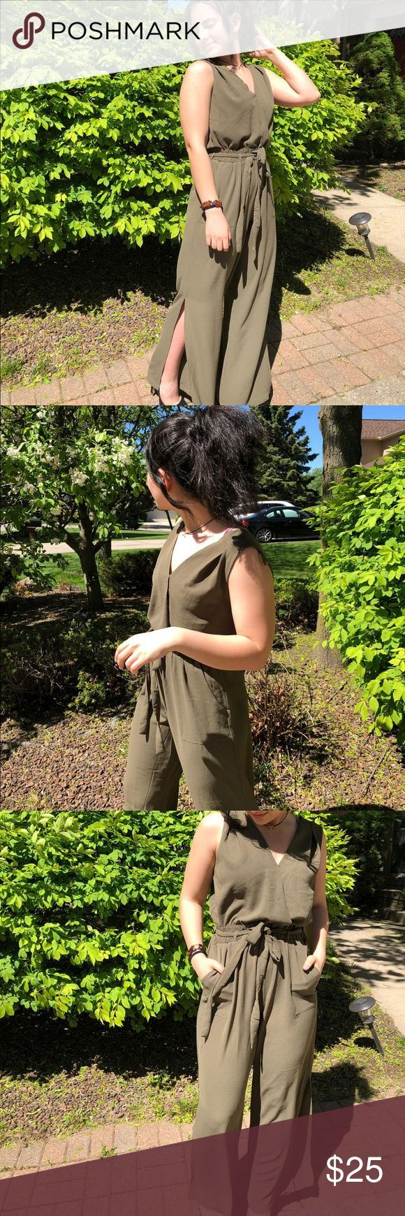 Olive One Piece Never worn except for those photos! I really love this piece and…