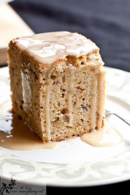 Maple Syrup-Walnut Cake with Maple Syrup Glaze