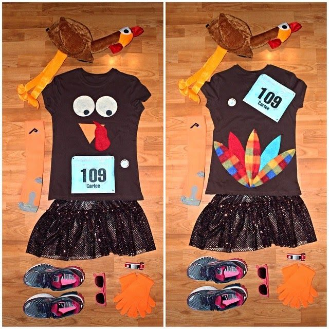 Turkey Troy Running Costume via Carlee McDot