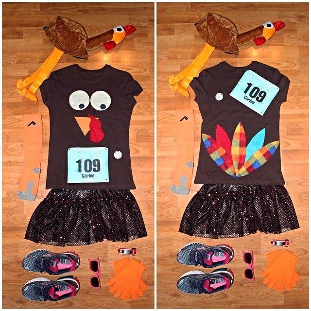Turkey Troy Running Costume via Carlee McDot