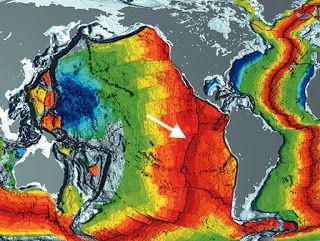 Dinámica de un episodio de expansión del fondo marino.