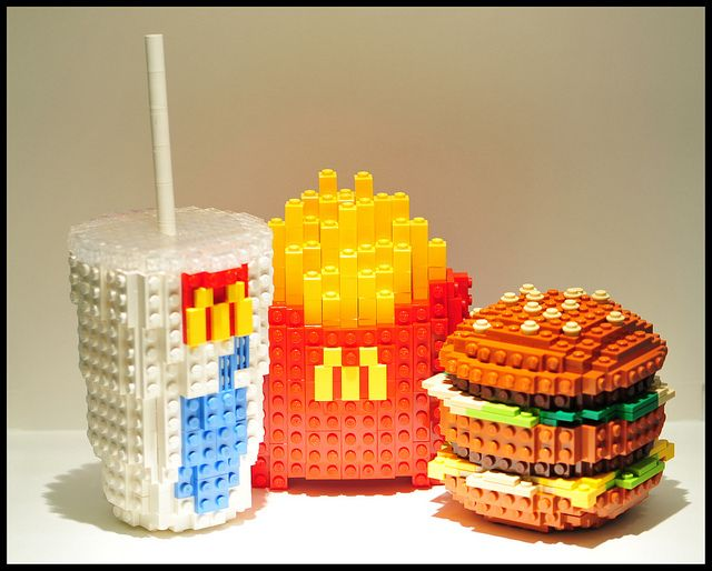 "Lego Art ~ Schfio Factory (Schneider Cheung), ""Lego Big Mac Meal"""