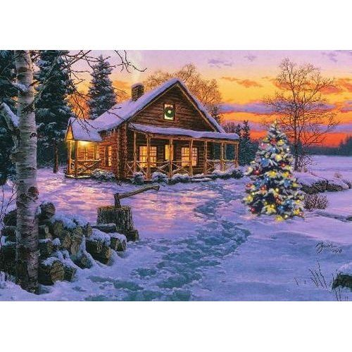 Nra Winter Cabin Scene Christmas Card Health Christmas
