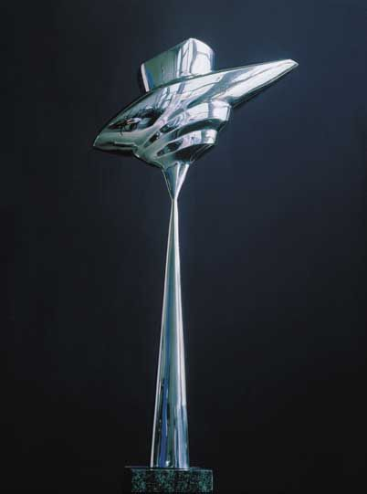 Stainless steel sculptures Constantin Lucaci