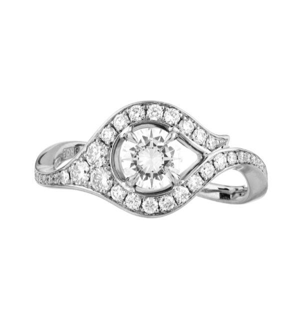 White gold and diamond Atlantis ring