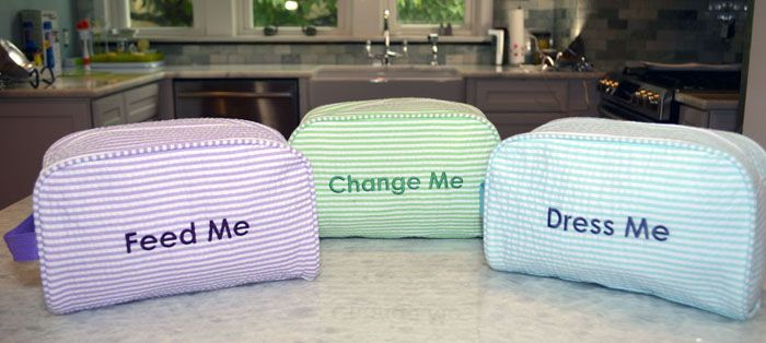 Easy Baby Diaper Bag Set! A trio of totes to help organize your diaper bag and makes it easier to find what your baby needs!  It's Easy Baby!