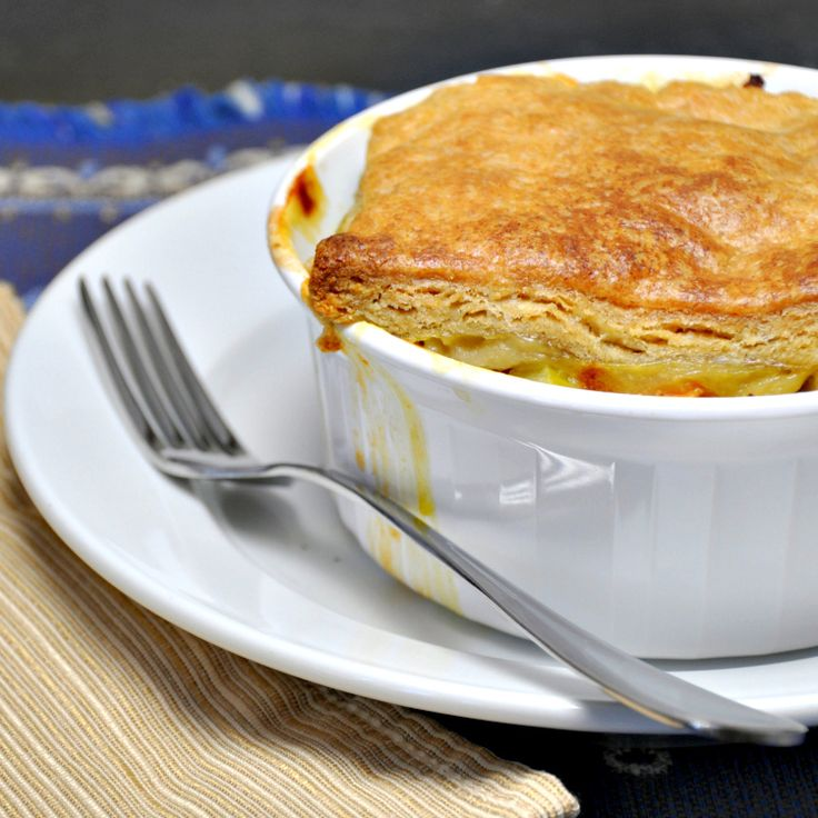 Chicken Pot Pie with Puff Pastry | Pinch and Swirl