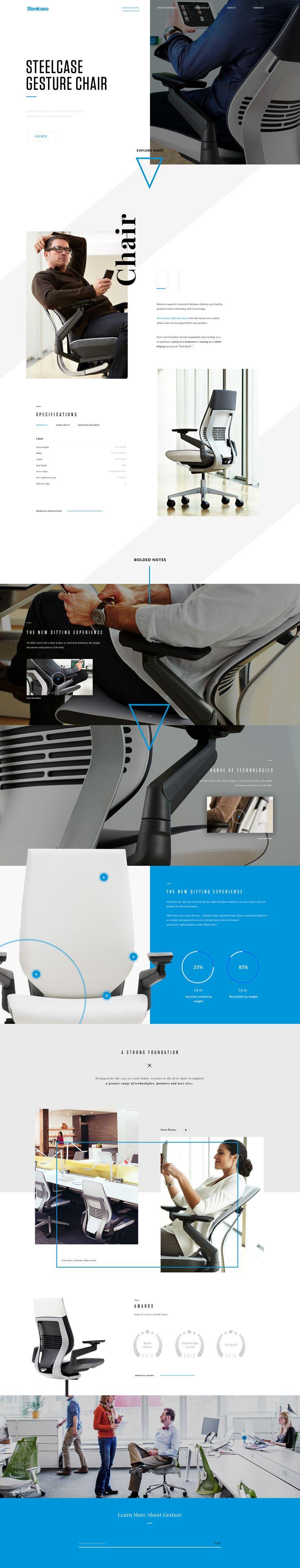 Steelcase Gesture Chair #webdesign #landing #ux #interface