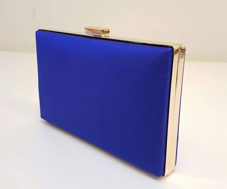 Fabulous combination of Royal blue silk and gold- clutch bag by Katja Nuutinen Couture