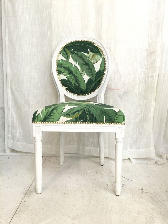 Banana Leaf French Louis Fauteuil French Louis Style